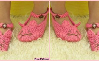 diy4ever Adorable Knit Kitty Slippers Free Patterns F 332x205 - Adorable Knit Kitty Slippers - Free Patterns