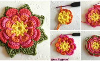 diy4ever Crochet Beautiful Flower Free Pattern F 332x205 - Crochet Beautiful Flower - Free Pattern