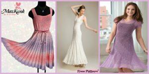 diy4ever Crochet Flare Dress Free Patterns F 300x150 - 15 Most Beautiful Crochet Crop Top  Free Patterns