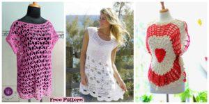 Beautiful Crocheted Summer Vest – Free Pattern