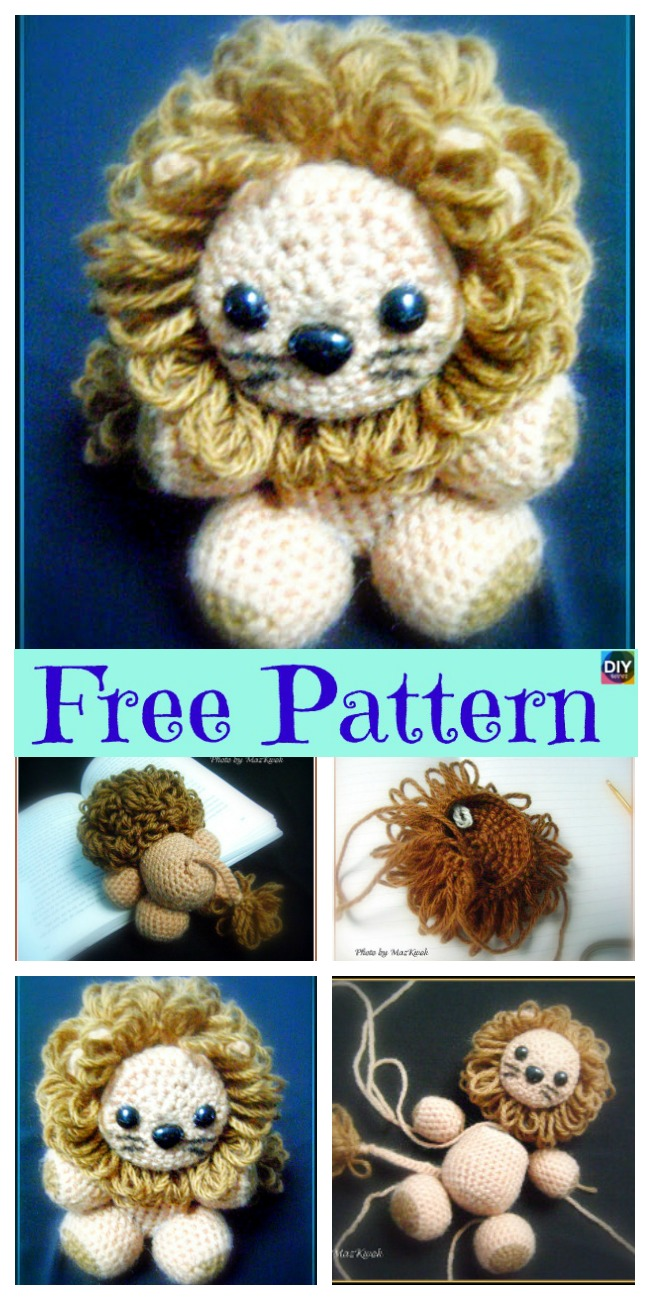 diy4ever-Crochet Little Lion Amigurumi - Free Pattern