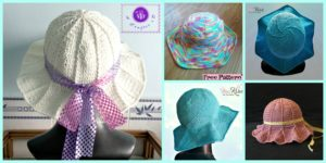 diy4ever Crochet Simple Sun Hat Free Patterns F 300x150 - 8 Cutest Crochet Pumpkin Hat Free Patterns