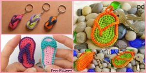 diy4ever- Crochet Slipper Keychain - Free Patterns
