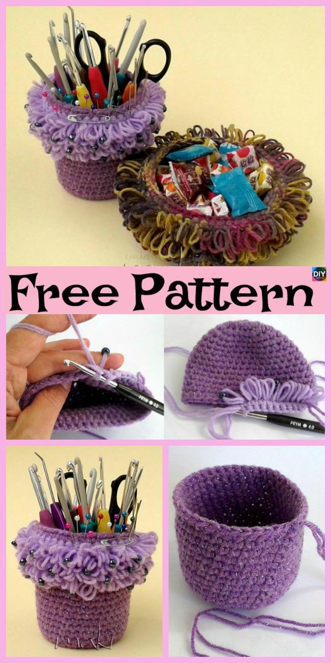 Crochet Yarn Basket - Free Pattern