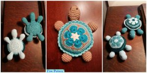 diy4ever-Cute Crochet Baby Turtle - Free Pattern