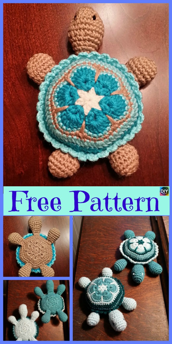 diy4ever-Cute Crochet Baby Turtle - Free Pattern