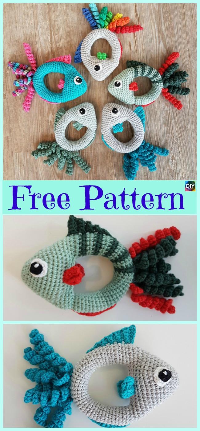 Super Cute Crochet Fish Rattle Free Pattern Diy 4 Ever