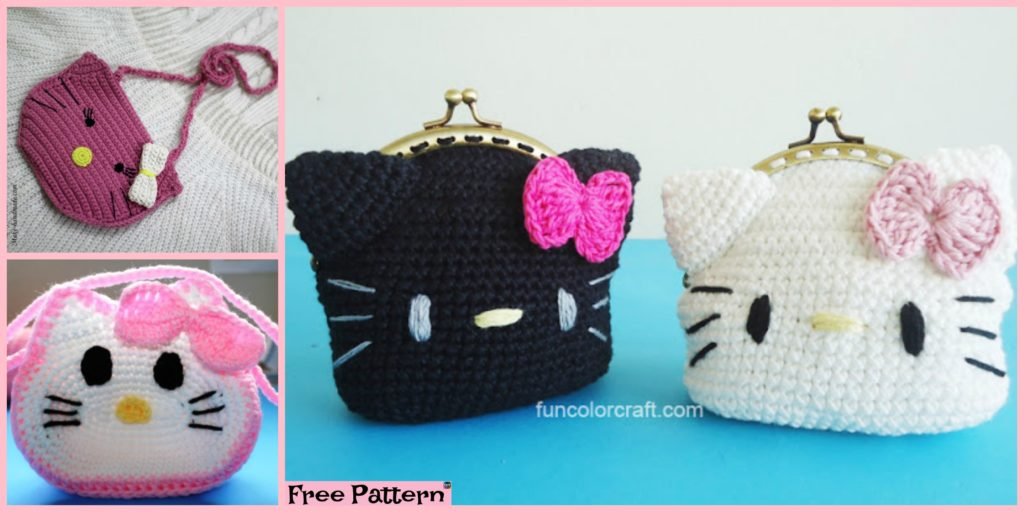 Cute Crochet Hello Kitty Purse Free Patterns Diy 4 Ever