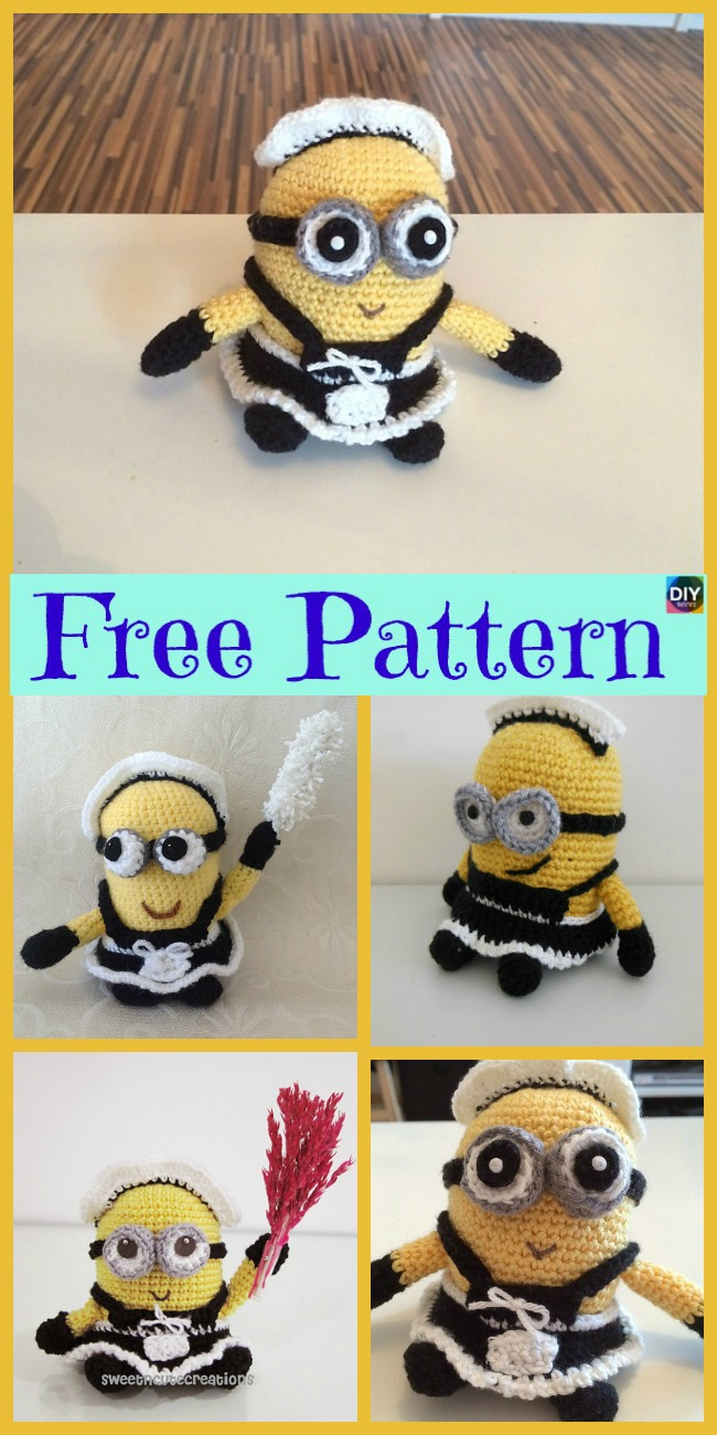 diy4ever- Cute Crochet Minion Character- Free Patterns