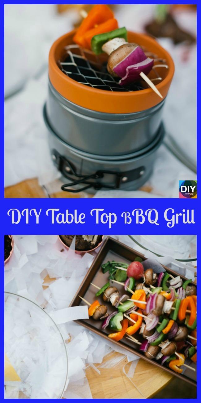 diy4ever-DIY Table Top BBQ Grill