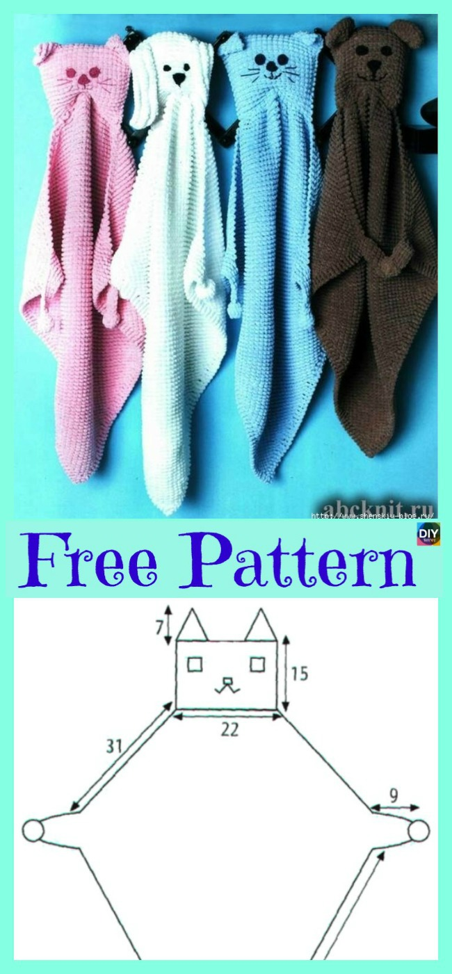 diy4ever-Funny Knit Home Pet Baby Blanket - Free Pattern