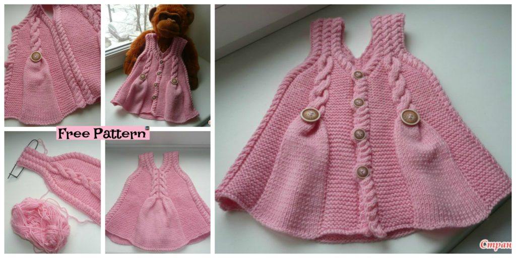 Cute And Pretty Knit Baby Girl Tunic Free Pattern Diy 4 Ever