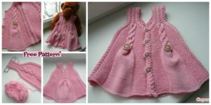 diy4ever-Pretty Knit Baby Girl Tunic - Free Pattern