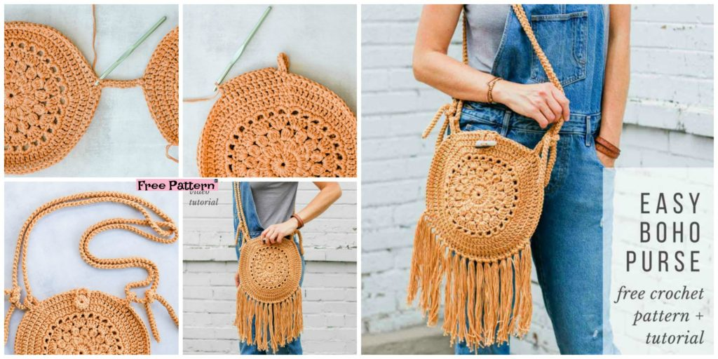 Street Fair Crochet Boho Purse Free Pattern Diy 4 Ever