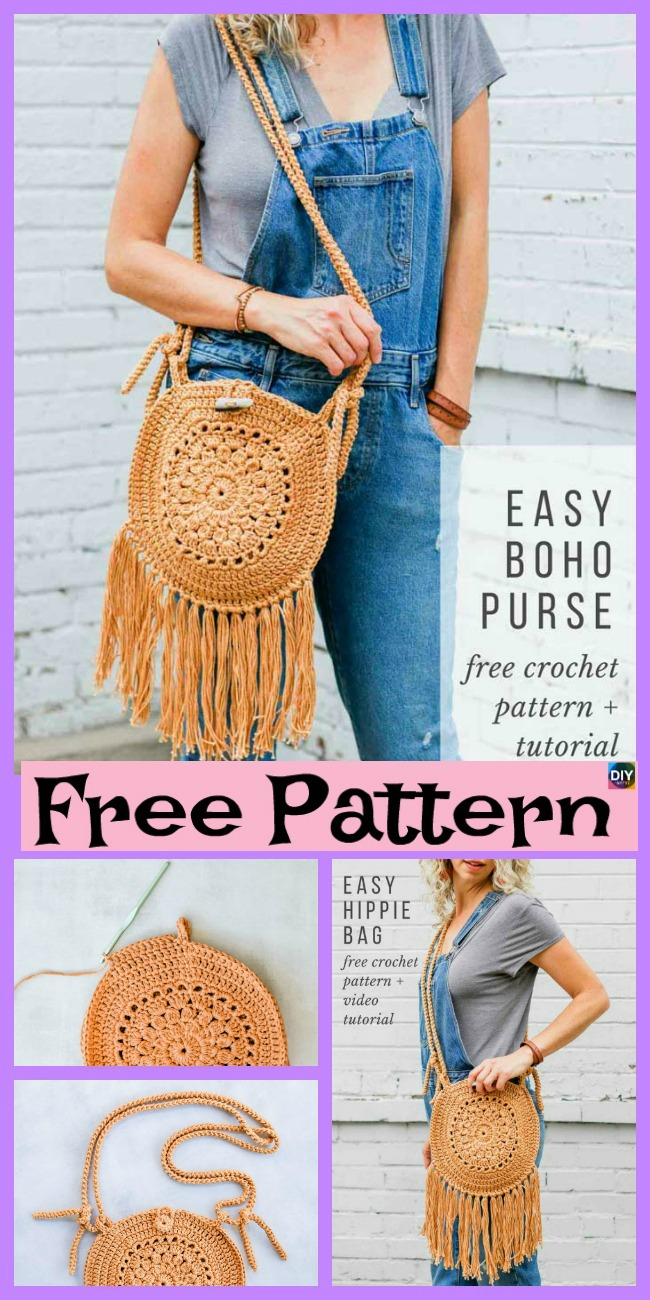 diy4ever-Street Fair Crochet Boho Purse – Free Pattern