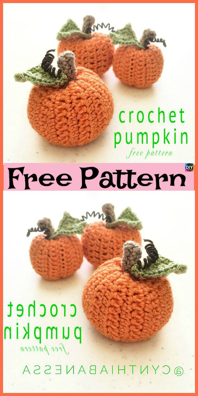 diy4ever-10+ Adorable Crochet Pumpkins - Free Patterns