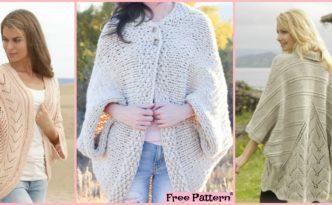 diy4ever 10 Beautiful Knit Blanket Sweater Free Patterns F 332x205 - 10 Beautiful Knit Blanket Sweater Free Patterns