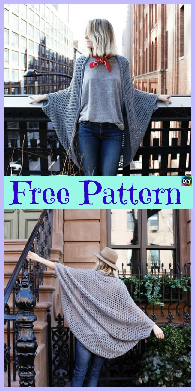 diy4ever-10 Beautiful Knit Blanket Sweater Free Patterns