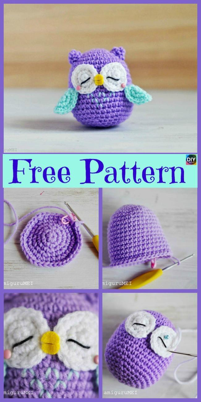 diy4ever-12 Crochet Amigurumi Owl Free Patterns