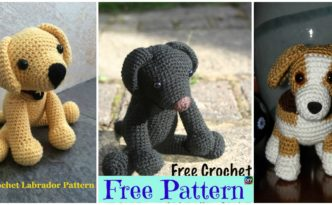 diy4ever 15 Adorable Crochet Puppy Dog Free Patterns F1.1 332x205 - 15 Adorable Crochet Puppy Dog Free Patterns