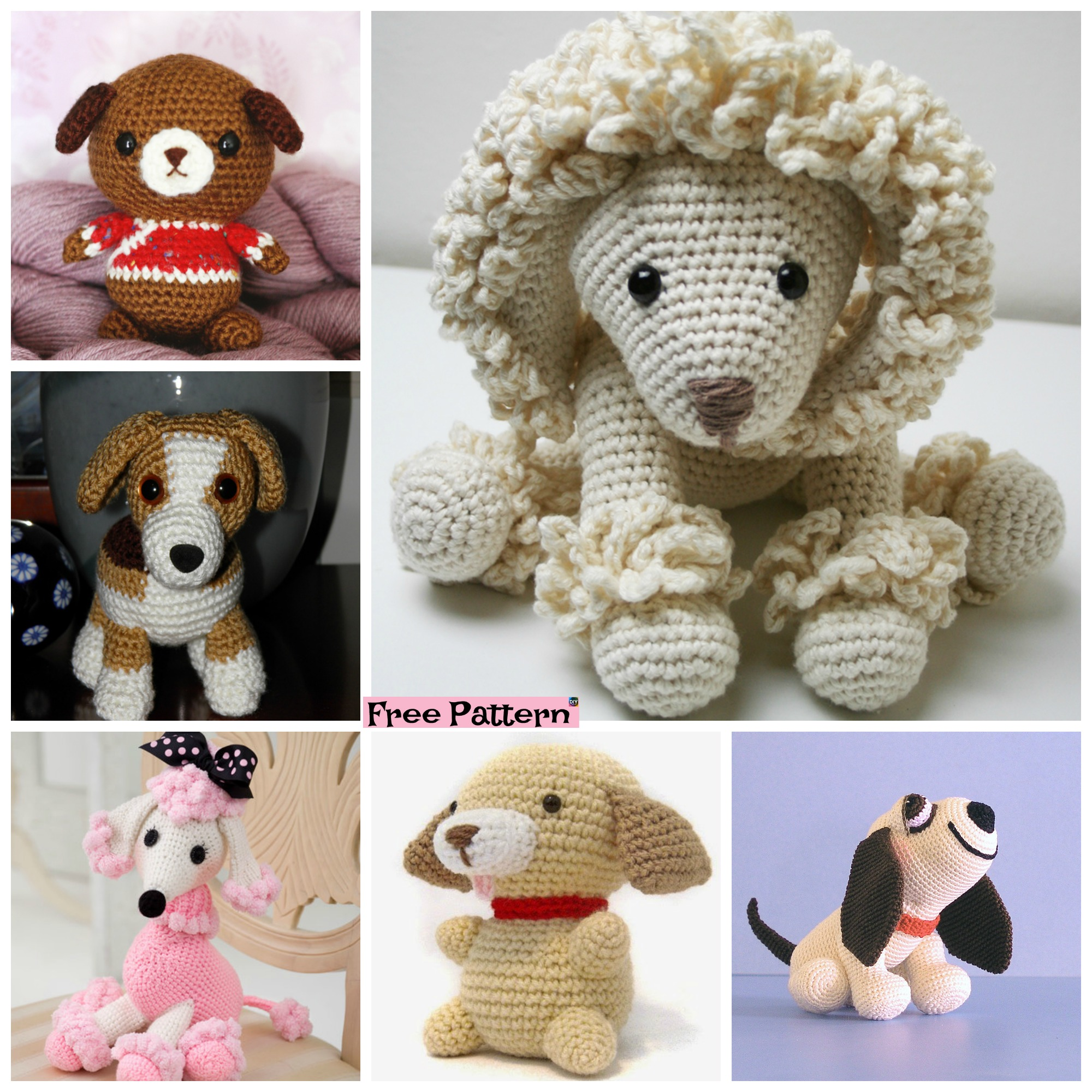 diy4ever-15 Adorable Crochet Puppy Dog Free Patterns