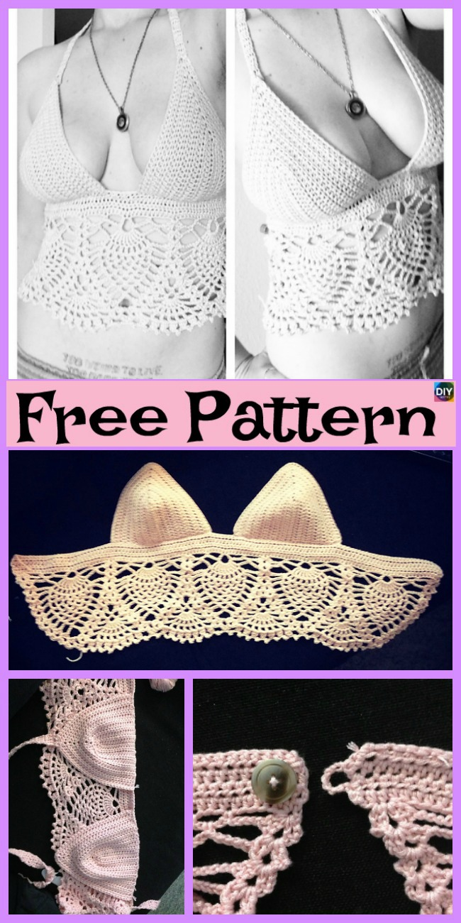 15 most Beautiful Crochet Crop Top Free Patterns