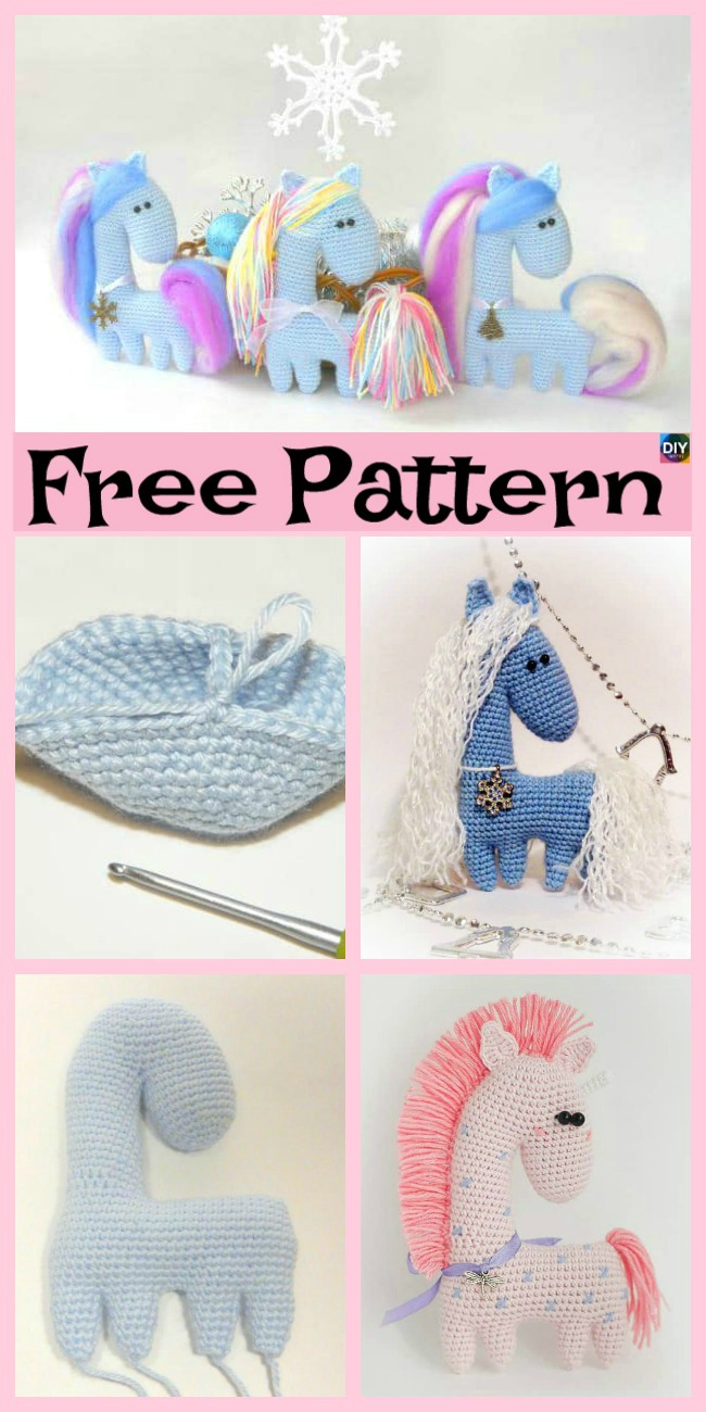 diy4ever- Crochet Amigurumi Horse - Free Pattern