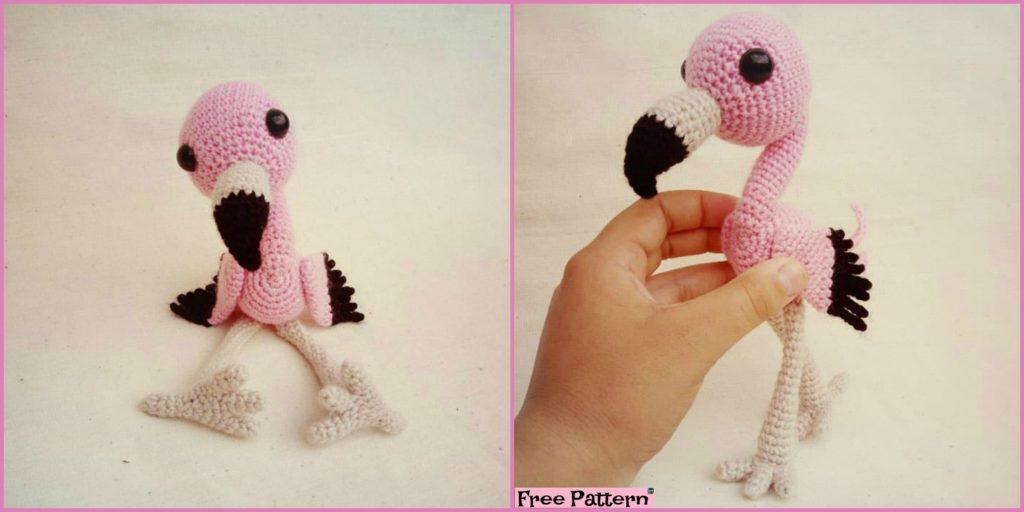 119037aaebd Crochet Baby Flamingo Amigurumi - Free Pattern - DIY 4 EVER