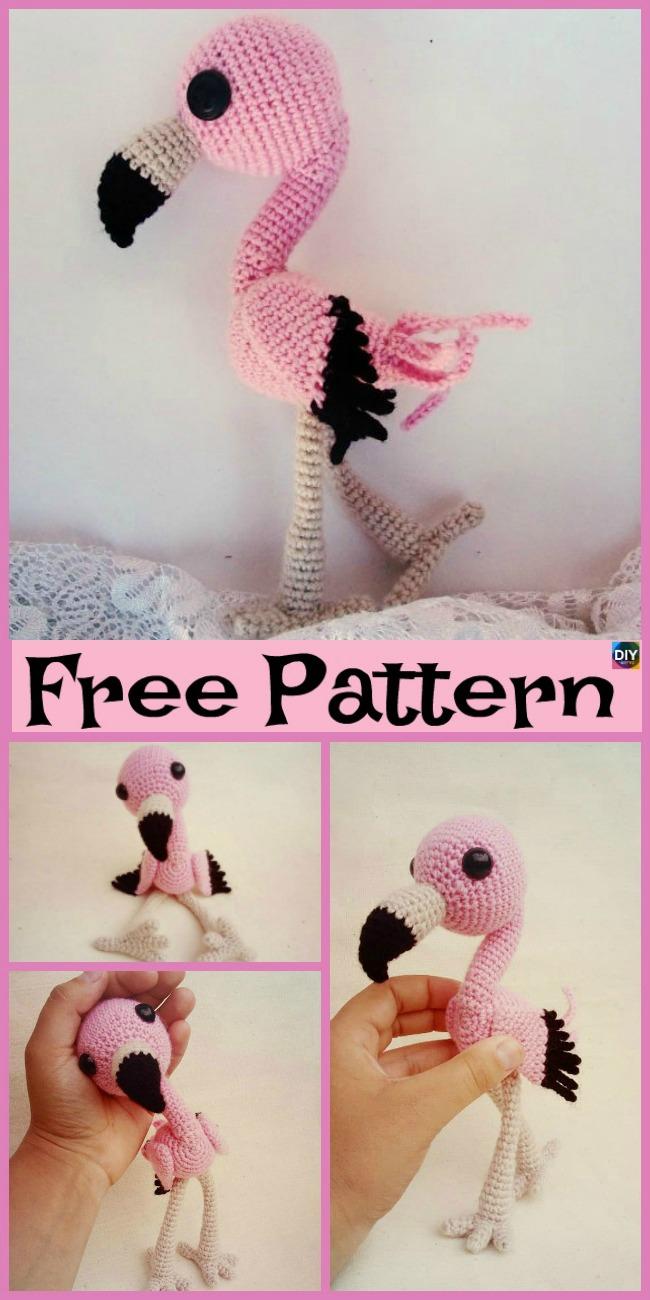 diy4ever- Crochet Baby Flamingo Amigurumi - Free Pattern