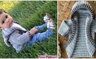 diy4ever-Crochet Baby Hoodie - Free Pattern
