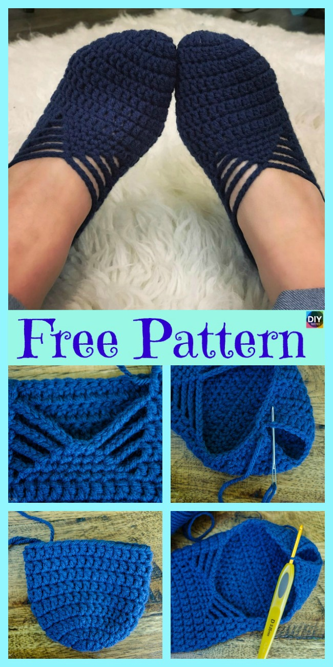 diy4ever- Crochet Ballet Slippers - Free Pattern