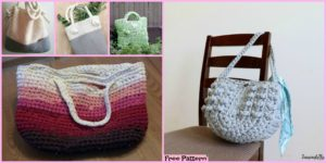 diy4ever Crochet Chunky T Shirt Tote Free Pattern F1 300x150 - Adorable Crochet Owl Bags - Free Patterns