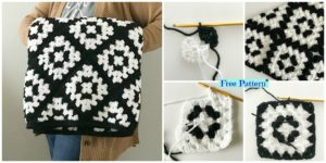 diy4ever Crochet Mabel Blanket Free Pattern F 300x150 - Crochet Pineapple Baby Blanket - Free Pattern