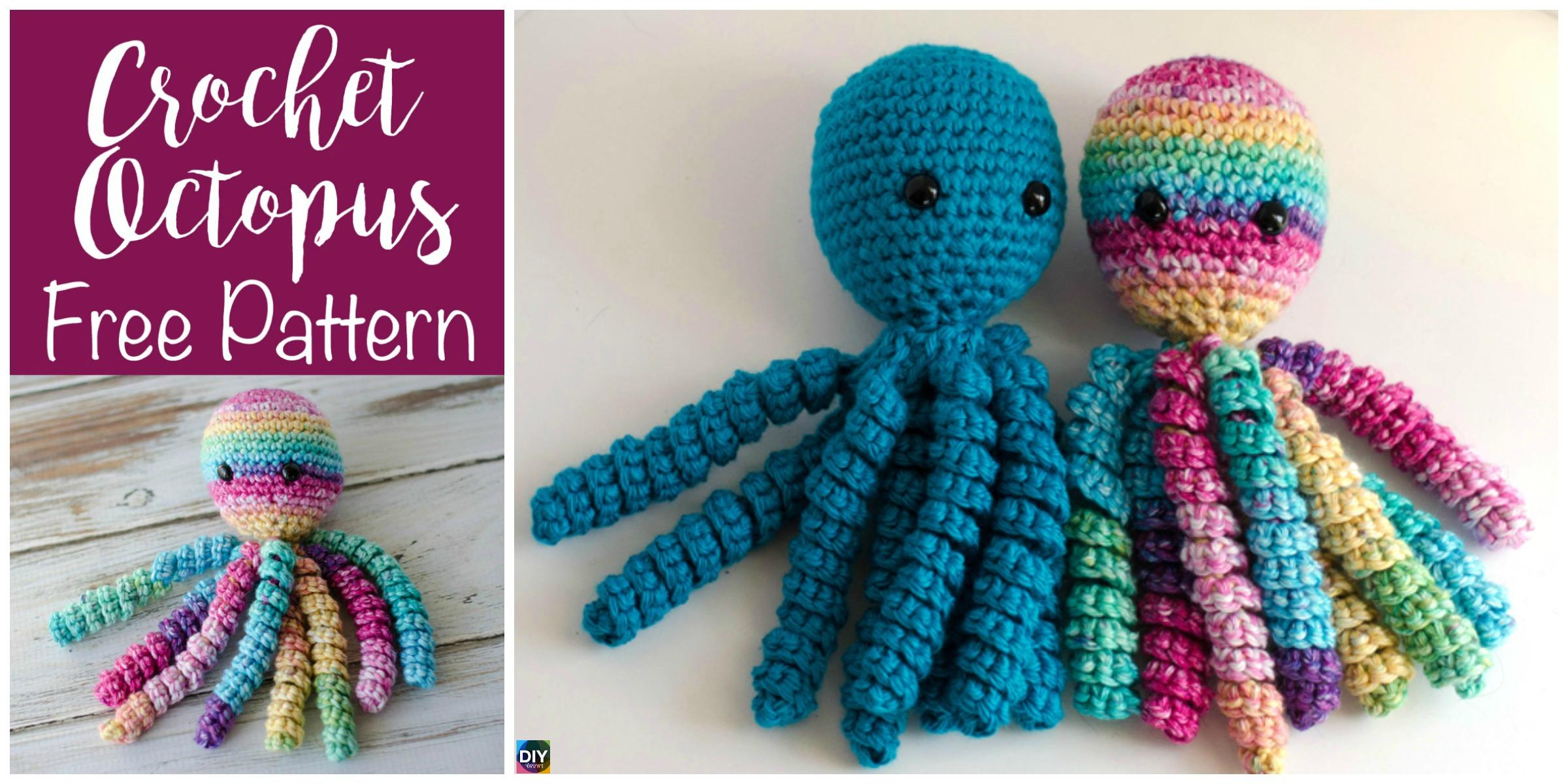 Adorable Crochet Octopus Amigurumi - Free Pattern - DIY 4 EVER