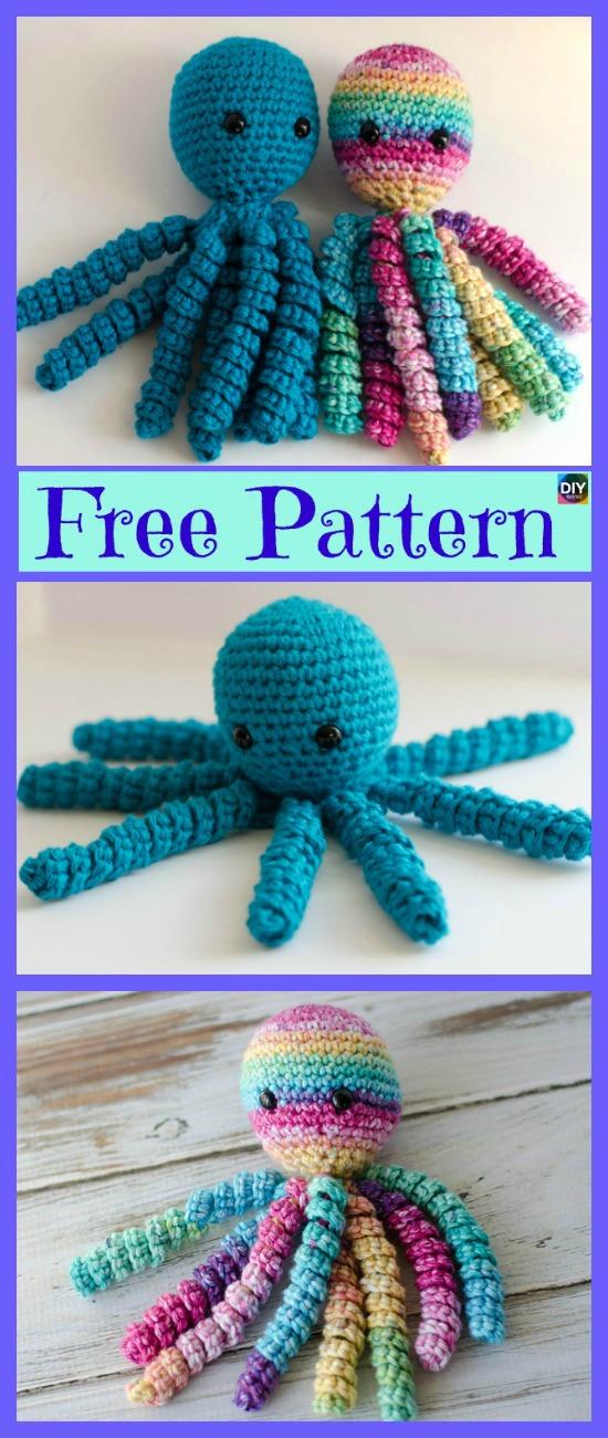 Adorable Crochet Octopus Amigurumi Free Pattern Diy 4 Ever