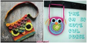 diy4ever Crochet Owl Bags Free Patterns F 300x150 - 10 Pretty Crocheted Tote Bags - Free Patterns