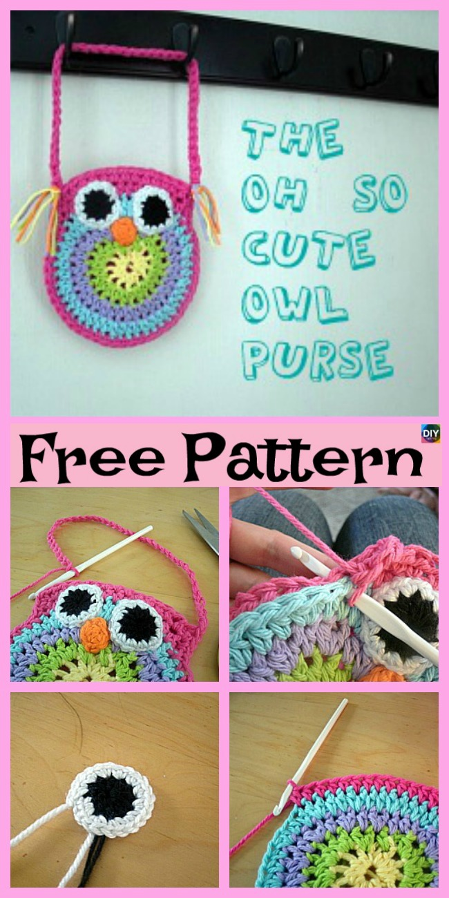 diy4ever-Crochet Owl Bags - Free Patterns