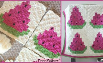 diy4ever - Crochet Watermelon Blanket FREE PATTERN