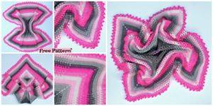 diy4ever-Crochet Pineapple Baby Blanket - Free Pattern