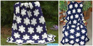 diy4ever Crochet Snowflake Afghan Free Pattern F 300x150 - Cute Crochet Baby Star Bunting - Free Pattern