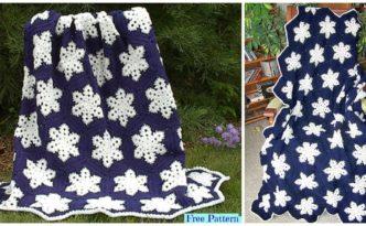 diy4ever Crochet Snowflake Afghan Free Pattern F 332x205 - Beautiful Crochet Snowflake Afghan - Free Pattern