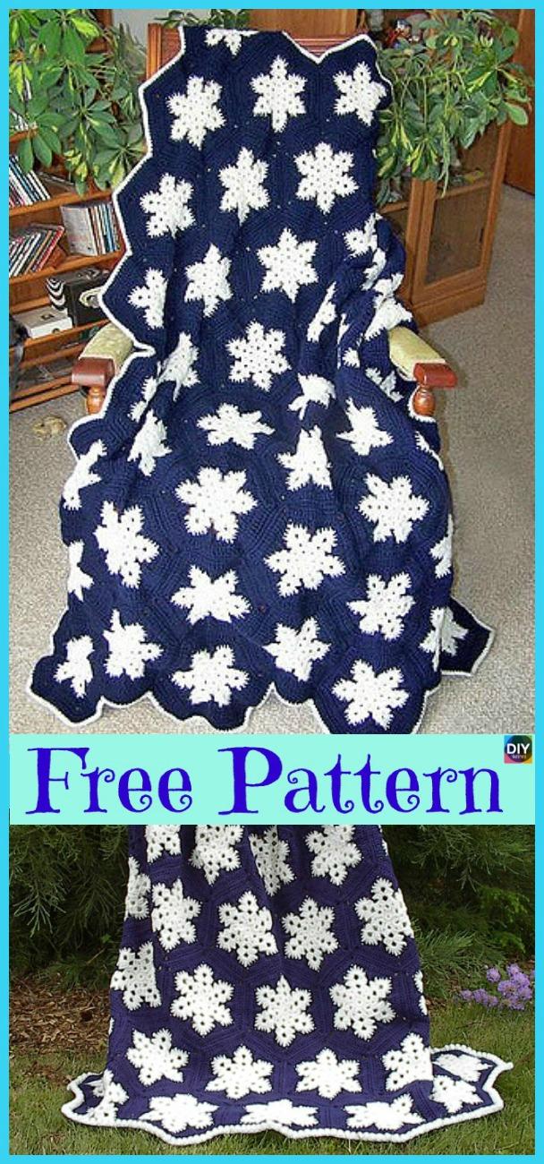 diy4ever- Crochet Snowflake Afghan - Free Pattern