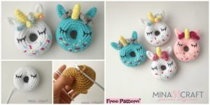diy4ever Crochet Unicorn Donut Amigurumi Free Pattern F 300x150 - Cozy Crochet NIMA Slippers - Free Pattern