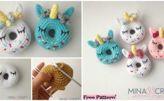 diy4ever Crochet Unicorn Donut Amigurumi Free Pattern F 332x205 - Crochet Unicorn Donut Amigurumi - Free Pattern