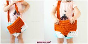 diy4ever Cute Crochet Fox Purse Free Pattern F 1 300x150 - Useful Convertible Crochet Blanket Bag - Free Pattern
