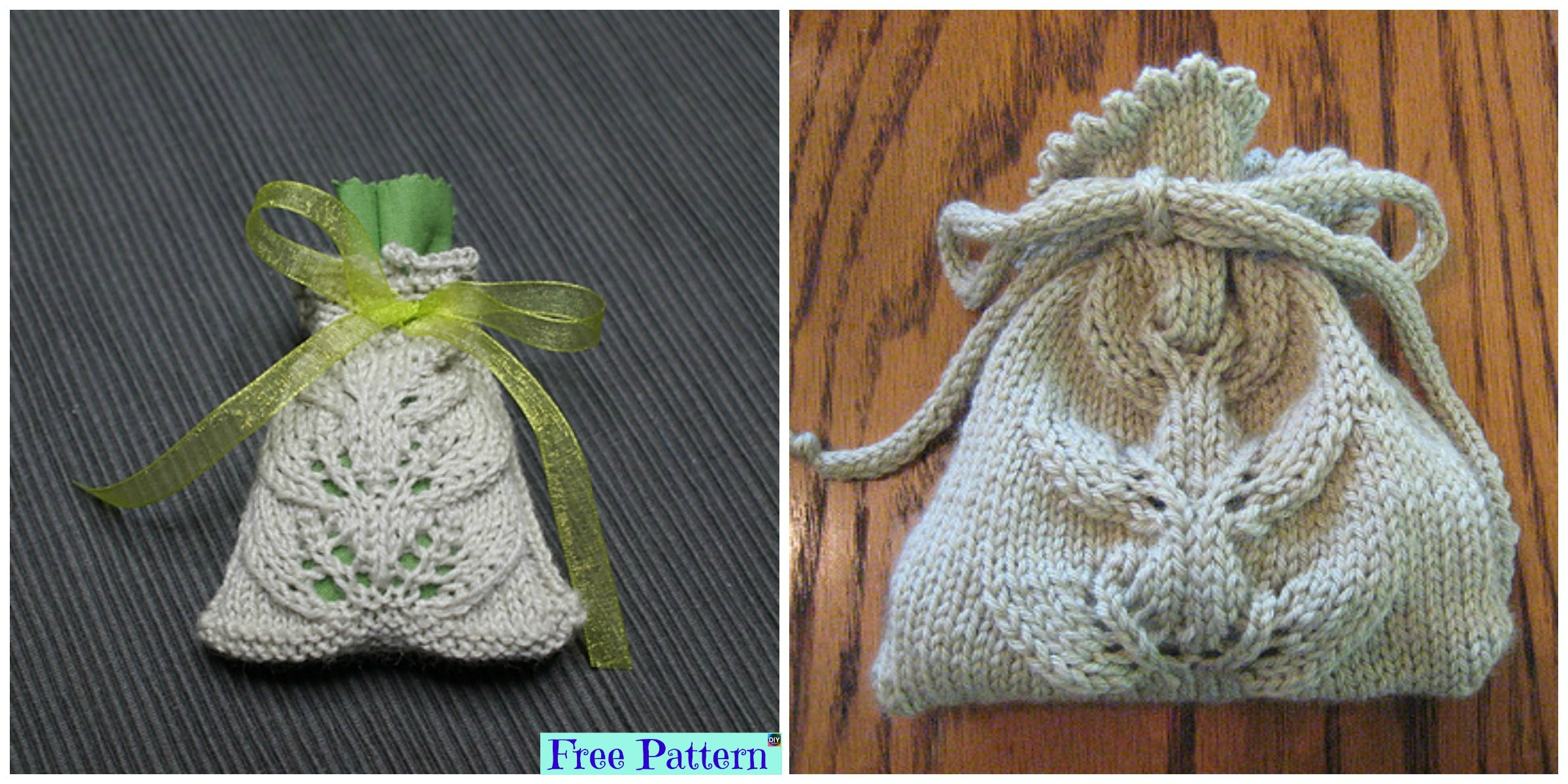 diy4ever- Knit Small Lace Bag - Free Pattern