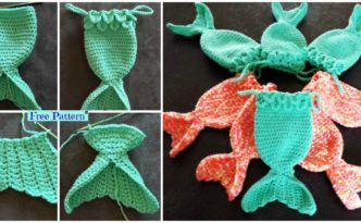 diy4ever Mermaid Fish Tail Crocheted Treat Bags Free Pattern F 332x205 - Mermaid Fish Tail Crocheted Treat Bags - Free Pattern