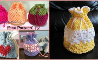 diy4ever-Round Base Crocheted Goody Bag - Free Patterns