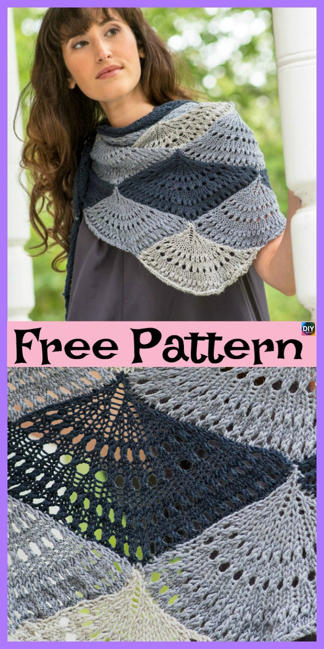 diy4ever- Unique knitted Shawl - Free Patterns