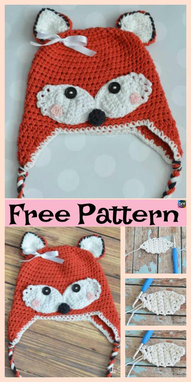 diy4ever-8 Knit & Crochet Fox Hats - Free Patterns
